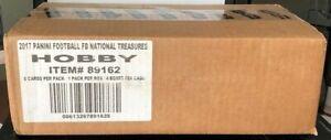 2016 Panini National Treasures Football Factory Sealed 4 Box Hobby Case