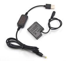 DMW-BLH7E usb power cable+DMW-DCC15 dummy battery for Panasonic GM1 GM5 GF7 GF8