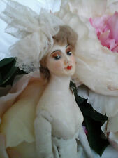 Rare Collectors Antique French Boudoir Mannequin Doll ~Wax/Leather/Porc ~c1800's