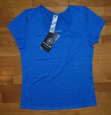 NWT Womens ACTIVE LIFE Blue Performance Wicking Fitness Shirt Sz MEDIUM