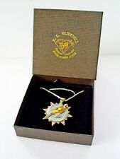BOXED THE NORTH WEST BRITISH & FOREIGN BIRD SOCIETY ENAMEL PENDANT/MEDAL & CHAIN