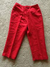 david n.  Red Linen Blend Pants Crops  14