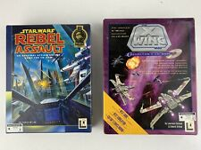 Star Wars: X-Wing Wars Collector's CD ROM PC 1994 Big Box Game & Rebel Assault
