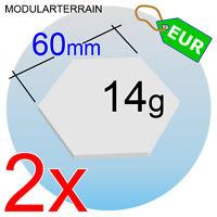 2x HEX CLEAR ACRYLIC BASE 60mm HEXAGONAL METACRILATO 2mm SOCLE TRANSPARENT