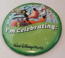 "Walt Disney World 3"" Pin / Badge / Button - I'm Celebrating"