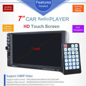 HD Touch Screen Car Stereo Radio MP5 Player Bluetooth Audio AUX GPS Navi Video