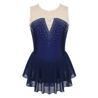 Figure Skate Dress For Ladies Ballroom Outfit Sexy Dance Wear Costume Sleeveless