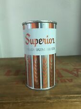 gorgeous Superior Premium Beer flat top can:  Superior Brewing co, Chicago, IL