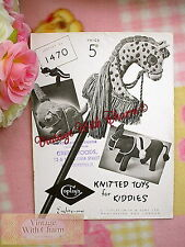12 Page Vintage 1940s Toy Knitting Pattern Hobby Horse, Mule    £2.99 + NO P&P