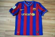 SIZE KIDS BOYS 10-12 Y BARCELONA 2009/2010 HOME FOOTBALL SHIRT JERSEY CAMISETA