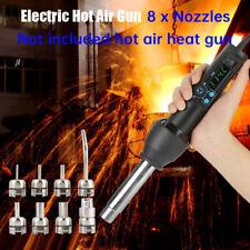 8pcs Nozzles Kit 650w Led Digital Electronic Heat Hot Air Gun Soldering Station