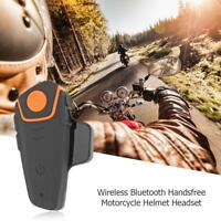 Bluetooth Wireless V4.1 Freisprech Motorrad Helm Headset Wasserdicht Fm Radio