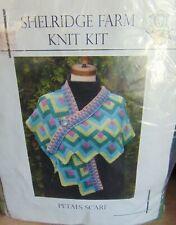 Shelridge Farm Knit Kit~Petals Scarf~4 Skeins 100% Woo Yarn~Instructions