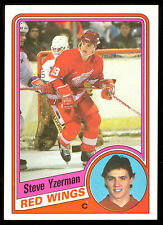 1984 85 TOPPS HOCKEY #49 STEVE YZERMAN RC NM DETROIT RED WINGS ROOKIE HOF