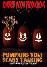Scary Talking Pumpkins Halloween Projection Effects DVD Halloween props