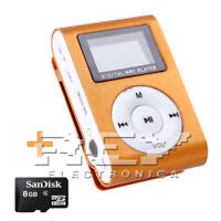 Reproductor MP3 CLIP con Pantalla LCD Color Naranja + MicroSD 8 Gb d43/v52
