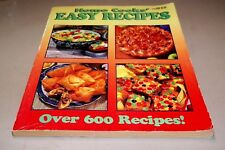 Cook Book Home Cook's Easy Recipes, Over 600 Recipes Vol. 4