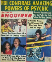 National Enquirer Oct 18 1988 FBI Confirms Psychic Power - Liz Taylor - Cheers