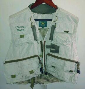Crystal River Deluxe Mens Fishing Vest Nylon L Must Have Buy it B4 Gone FASTSHIP