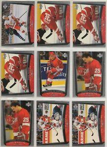 DETROIT RED WINGS ~ 1998-99 Upper Deck Series 2 TEAM SET / LOT ~ 13 Cards OSGOOD
