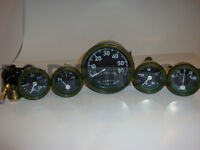 Speedometer Temp Oil Fuel Amp Gauge Kit Olive for Willys MB Jeep Ford CJ GPW