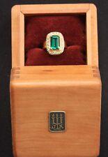 James Avery Barcelona 18K Ring (750 stamp) Emerald & Diamond Gold Ring w/Box