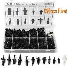 690x  Car Push Retainer Pin Plastic Rivet Fasteners Trim Clip Panel Moulding Kit