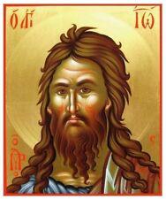 Saint John the Baptist MADE TO ORDER Eastern Byzantine Icon on Wood