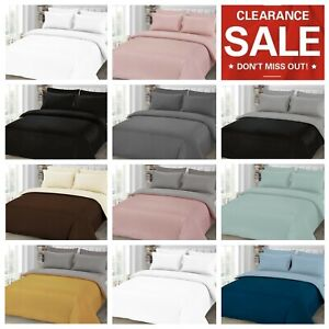 Clearance Duvet Cover Pillowcase Fitted Sheet Quilt Bedding 4 pcs Set All Size