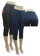 Custom your own High waist Denim Capri pants Rockabilly Pinup 50's NEW All Sizes