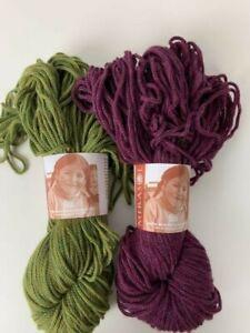 Lot of 2 skeins Mirasol SISA Yarn 60% Wool 40% Alpaca Colors 12 Leaf and 07 Mulb