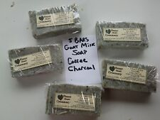 5 BARS GOAT MILK SOAP COFFEE CHARCOAL HAPPY GOAT CREAMERY CREME BRULEE COFFEE