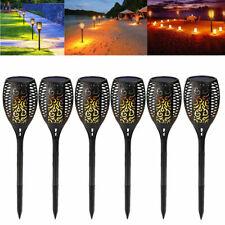8 Pack 96 LED Solar Garden Lights Path Torch LED Landscape Dancing Flame Lamps