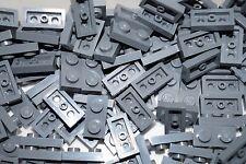 LEGO  BRICKS 100 x DARK STONE GREY  PLATE  1x2 PIN No 3023 ( STAR WARS, CITY)