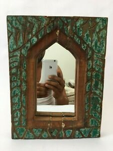 Beautiful Frame Vintage Hand Carved Wooden Engraved  Mirror Wall Frame Home Deco
