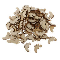 Esquirla 18pc MDF Wood Flourishes Shapes Wooden Scrapbooking Embellishments DIY Craft