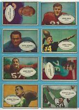 1953 Bowman Starter Set Lot of 23 Different Football Cards VG