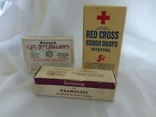 Lot Of 3 Great Boxes Of Throat Care From Old Drug Store, Apothecary, Contents