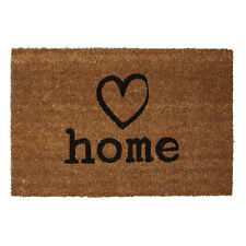 Heart Charm Large Coir Doormat 40 X 60cm Front Door Outdoor Rubber Back Matting