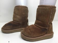 GIRLS TODDLER UGG AUSTRALIA WINTER SUEDE BROWN BOOTS SIZE 7