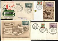 A136481/ FRENCH ALGERIA / LOT OF 6 FDC VARIOUS VISUALS