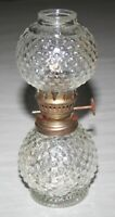 "Vintage Miniature Hobnail Clear Glass Lantern 6-3/4"" Made In Hong Kong"