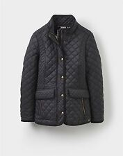 Ladies Joules Black Newdale (x) Quilted Coat Size 10