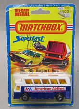 1976 Matchbox #65 Airport Bus American Airlines Superfast factory sealed card