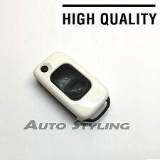 Chiave Bianco Cover Per Mercedes Benz Remote Fob 2 Bottoni scafo Borsa Flip chiave 72W