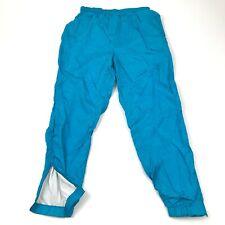 Vintage Akita Pantalon Taille M Aqua Bleu de Survêtement Jogging Monochrome 80's