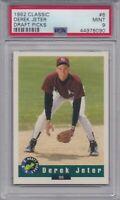 DEREK JETER ROOKIE 1992 Classic Draft Picks #6 Graded PSA 9 MINT NY Yankees HOF!