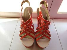 12 cm high heel red sandals size 40