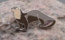 Cuddly American Otter Aquatic Furry Cute Water Mammal Protection Pin Badge
