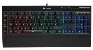 Corsair K55 RGB Membrane Gaming Keyboard, 6 Programmable Macro Keys, 3-Zone RGB